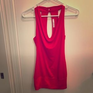 Charlotte Russe XS red halter top